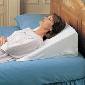 Rose Medical Bed Wedge - Foam Wedge Bed Pillow 25'' x 23'' x 12''. Comes w/ white pillow cover