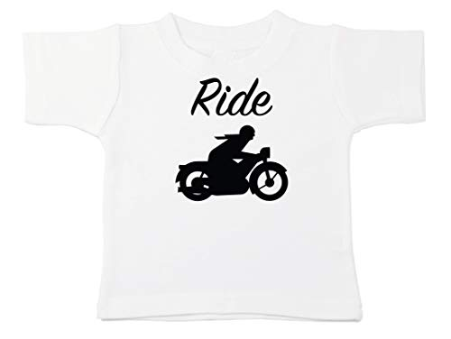 Kinacle Ride Baby/Toddler T-Shirt (0-3 Months, White)