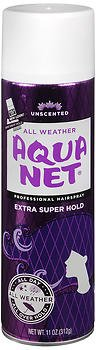 Aqua Net Extra Super Hold Professional Hair Spray Unscented 11 oz (Pack of 2) (Spray Net)