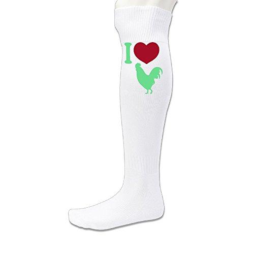 Mens New York Yankees Costumes (EDRE I LOVE COCK Men's&Women's Soccer Game SockWhite (1 Pair))