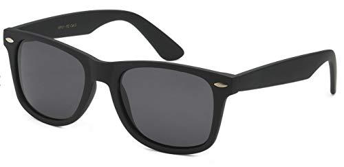 Sunglasses Classic 80's Vintage Style Design...(A#1 Matte Black, Polarized)