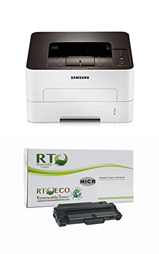 Renewable Toner M2825DW MICR Check Printer Bundle with 1 RT Compatible Samsung MLT-D116L MICR Toner Cartridge