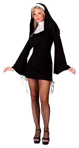 Naughty Nun Plus Size Costumes (Naughty Nun Adult Costume - Small/Medium)