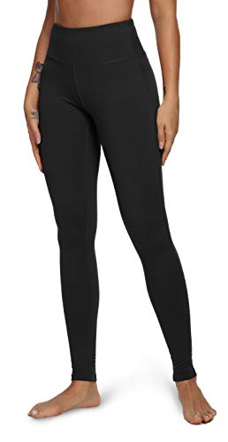 QUEENIEKE Yoga Leggings with Pocket Classic Tummy Control 4 Inch Medium Waist Running Pants Workout Tights for Women…