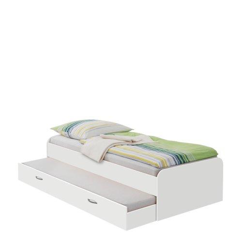 FMD Möbel 800-004 Bett Pedro 4 (B/H/T) 95.0 x 50.5 x 203.0 cm, weiß