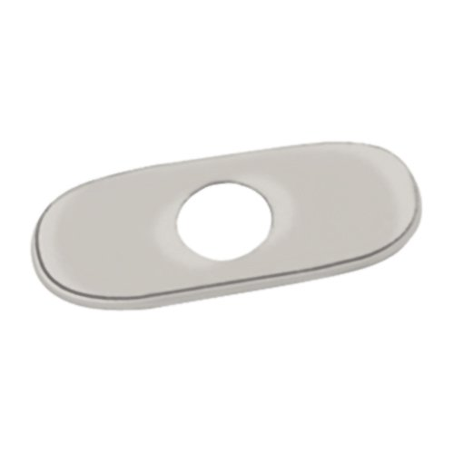 (Grohe 07 551 AV0 6-Inch Euro Escutcheon Plate For Covering Unused Mounting Holes, Infinity Satin Nickel )