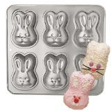 Wilton Mini Cakes Bunny Rabbit Pan Mold ~ 6 Bunnies per Pan