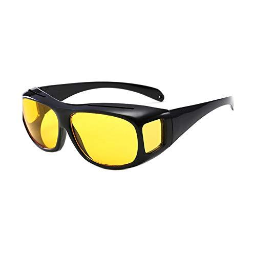 Colorful sea Night Vision Goggles DustProof Riding Glasses Multi Function Mirror Driving Anti High Beam Anti Glare Windproof ()