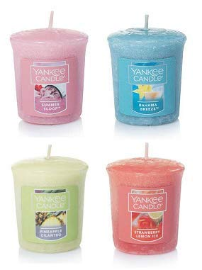 Yankee Candle Lot of 4 Samplers Votive Candles Summer Fragrances 1.75 Oz. Each.