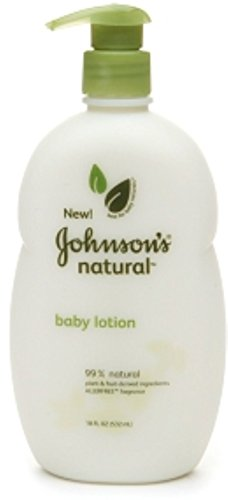 JOHNSON'S Natural Baby Lotion Allerfree Fragrance 18 oz (10 Pack) by Johnson
