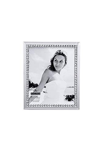 Malden International Designs Malden Brilliance Jewel Mirror Picture Frame, 8x10, Mirrored