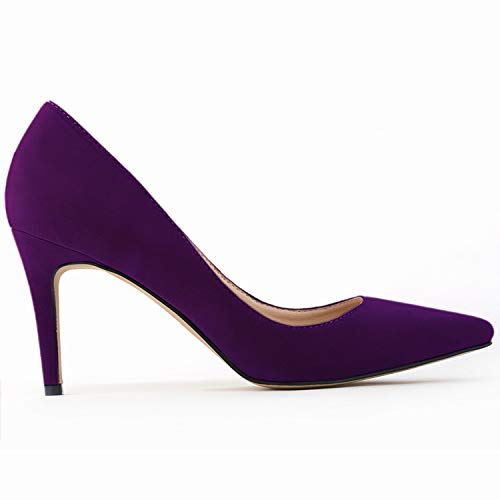 E 35 EU FLYRCX Daim Couleuré Mode Sexy a souligné la Bouche Peu Profonde Talons Hauts MesLes dames Simple tempéraHommest Chaussures de Travail de Bureau Chaussures de Mariage