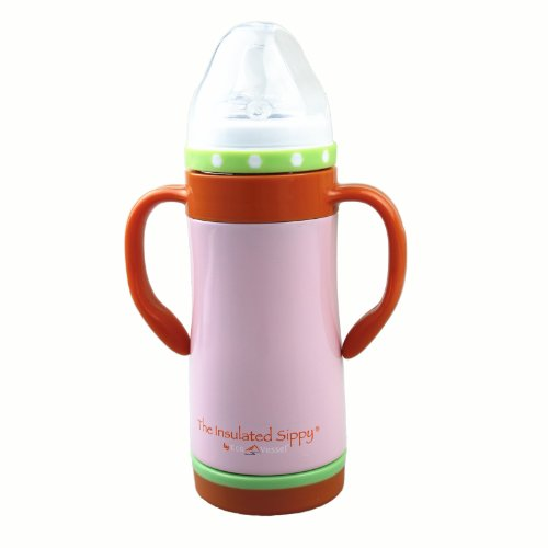 10 oz. Kids Vacuum Sippy Thermos Bottle Color: Ava Pink