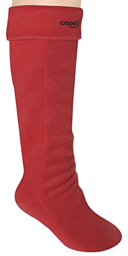 Capelli New York Ladies Solid Fleece Tall Basic Rain Boot Liner Red Devil M