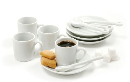Norpro5607 12-Piece Demitasse Set, White