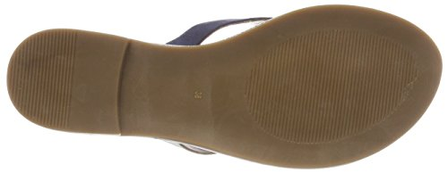 Inuovo Women's 8371 Flip Flops, Black Pewter Blue (Navy-silver 16780415)