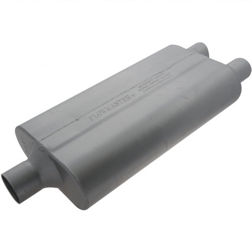 Flowmaster 9424502 50 Delta Flow Muffler - 2.25 Center IN / 2.00 Dual OUT - Moderate ()