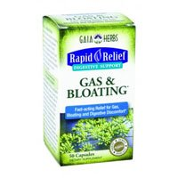 Gaia Herbs Gas & Bloating Digestive Support, 50-capsule Bottle ( Multi-Pack) by Gaia Herbs