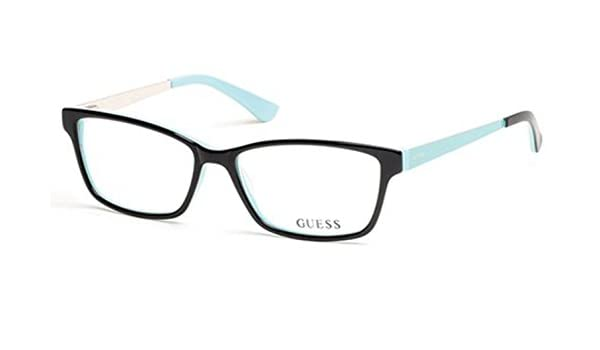 690f4c1a25 Eyeglasses Guess GU 2538-F GU2538-F 005 black other at Amazon Men s Clothing  store
