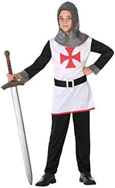 Atosa-56827 Disfraz Caballero Cruzadas, Color Negro, 7 a 9 años ...