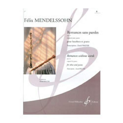 (Theodore Presser Mendelssohn Romances Sans Paroles Op 53 No 4 (Oboe and Piano))