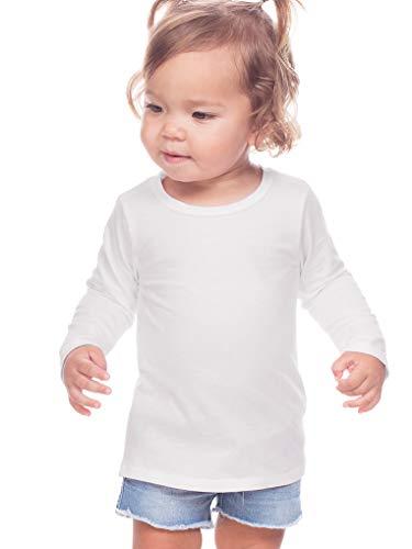 Kavio! Unisex Infants Crew Neck Long Sleeve White 18M ()