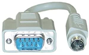 """6"""" DB9 Male to PS/2 Male Serial Adapter"""