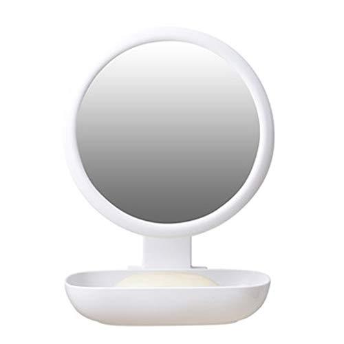 - Hzpxsb Bathroom Small Mirror Student Dormitory Desktop Makeup Mirror Suction Cup Vanity Mirror Bathroom Wall Mirror (Size : 15x20x15.5cm)