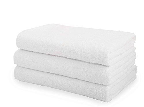 Classic Turkish Cotton 3 Piece White Bath Sheet Set - Thick and Soft Terry Cloth Hotel and Spa Quality Bath Sheets Made with 100% Turkish Cotton 30 x 60 inch