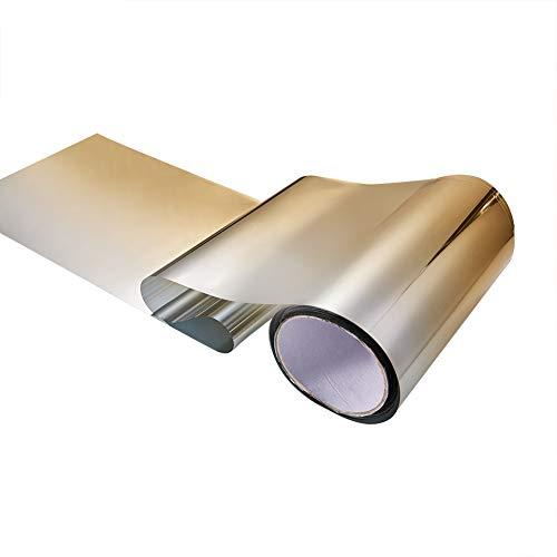 ATMOMO Gold Gradual Color Front Windshield Films Vinyl DIY Precut Sun Visor Window Tint Strip Car Decal 7.8 Inch x 59 Inch