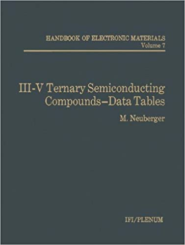 III-V Ternary Semiconducting Compounds-Data Tables (Handbook of Electronic Materials)