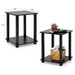 Amazon.com: End Table Set 2 Small Side Tables Storage