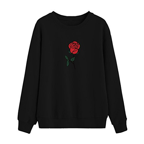 BLACKMYTH Women Round Neck Sweaters Graphic Cute Pullover Long Sleeve Funny Sweatshirts