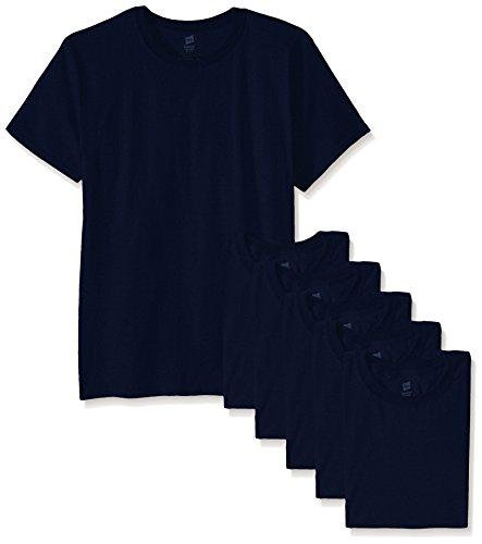 Hanes Men's ComfortSoft T-Shirt (Pack of 6), Navy, X-Large (T-shirt Navy Tee)