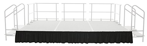 - AmTab - SKRT24 - Stage and Riser Skirting, Shirred Pleat, 23