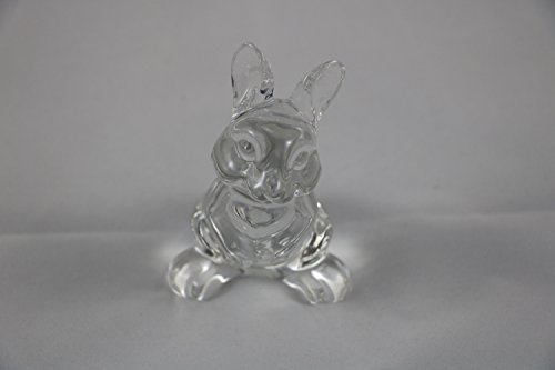 830 - Princess House Crystal Bunny Figurine (Princess House Crystal Plates)