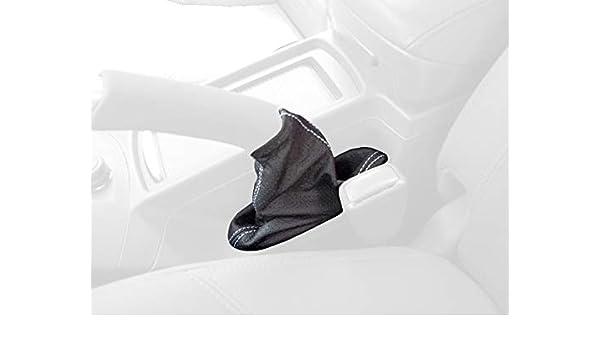 Amazon.com: RedlineGoods funda para Freno de Mano Compatible con Volvo C30 2007-13. Cuero Negro Costura Negra: Automotive