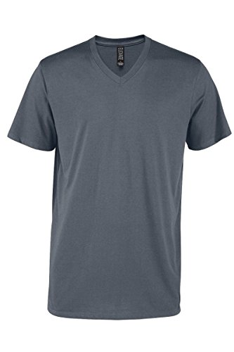 Casual Garb Men's V-Neck T Shirt Short Sleeve Tee T-Shirts for Men Elevate Series Charcoal X-Large