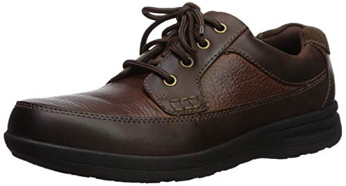 Nunn Bush Men's Cam Moc Toe Oxford Casual Lace-Up with Comfort Gel and Memory Foam, Brown Crazy Horse, 10.5-X-Wide