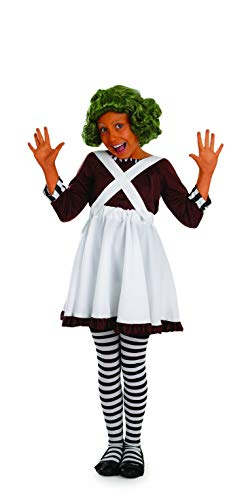 Fun Shack Girls Oompa Loompa Costume Kids Chocolate Factory Worker Outfit - Large