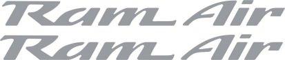 Pontiac Ram Air Hood Decals for Firebird , Trans Am, WS6, Formula (Silver) (Ram Air Ws6)