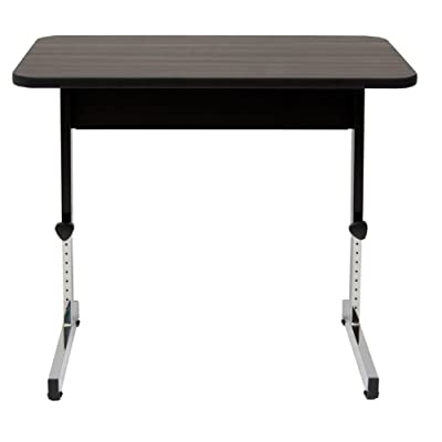 Offex Home Office Adapta Table Black/Walnut