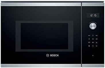 Bosch Serie 6 BEL554MS0, Forno a microonde ad Incasso, 25L 900W, Acciaio inossidabile/Nero
