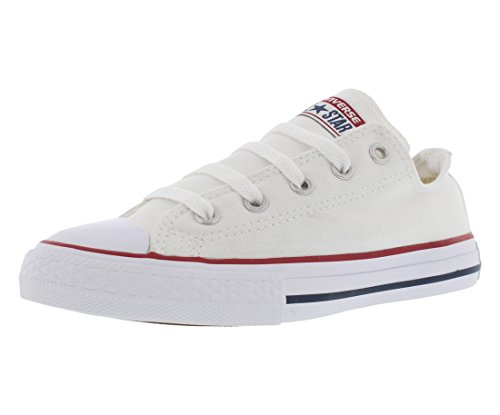 Converse Kid's Chuck Taylor All Star Low Top Shoe, optical white, 12.5 M US Little Kid (Converse White Shoes All)