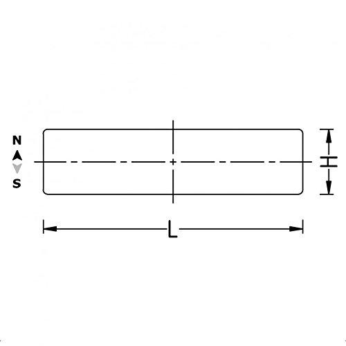 Neodym Quadermagnet 50x50x30 mm Grade N52 Nickel sehr starker Magnet f/ür den professionellen Einsatz