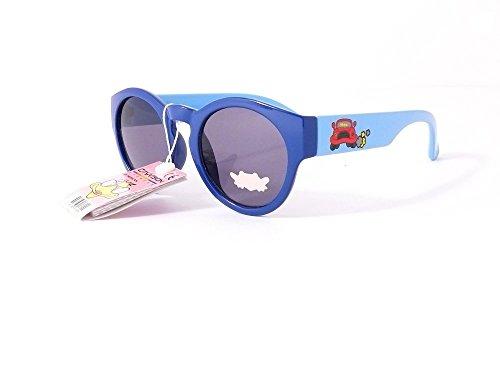 lunettes de soleil enfant verres ronds rondes garçon 5 6 7 8 ans fille 072207 monture bleu