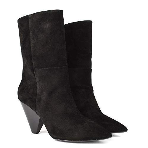 Ash 38 Black Doll Mid Calf Suede Black Boots rrvwqY