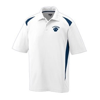 Premier Sport Shirt WHITE AND NAVY MEDIUM
