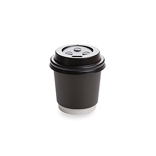 500-CT Disposable Black Lid for 4-OZ Coffee and Tea Cups: Perfect for Coffee Shops, Juice Shops, and Restaurant Takeout ? Recyclable Polystyrene Cup Lid ? Restaurantware