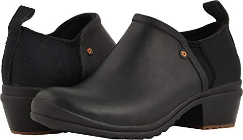 Bogs Womens Vista Low Rain Boot, Black, Size 6
